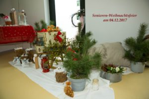 Senioren-Weihnachtsfeier am 04. Dezember 2017 in Pinnow