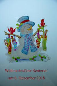 Weihnachtsfeier der Pinnower Senioren am 06. Dezember 2018